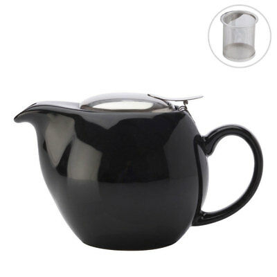 Maxwell & Williams Cafe Culture Black Teapot w/ Infuser 500ML Dishwasher Safe