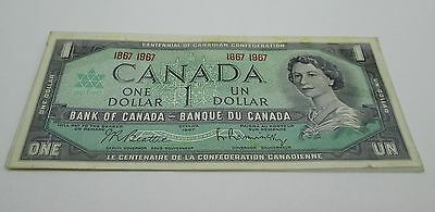 Canada 1967 (One) $1 Dollar Bill Canadian Note About Uncirculated CRISP Banknote
