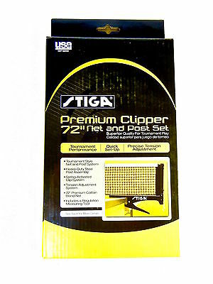 "Stiga - Premium Clipper 72"" Net And Post Set - Nib - Tournament Performance"
