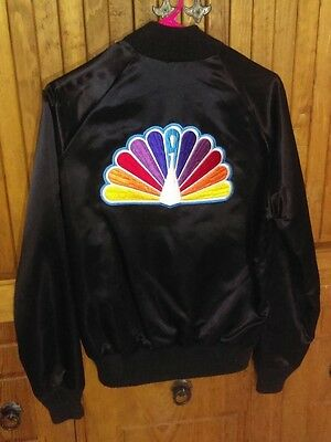 """NBC Peacock Vintage Jacket. """"California"""" label. Size Small S Black. Snaps. Lined"""