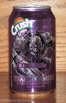 "NM 2017 USA GRAPE CRUSH LE #2 of 4 ""TRANSFORMERS -THE LAST KNIGHT"" 12oz FULL CAN"