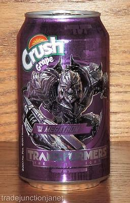 "NM 2017 USA GRAPE CRUSH LE 2of4 ""TRANSFORMERS - THE LAST KNIGHT"" 12oz FULL CAN"