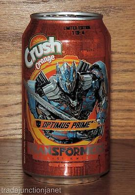 "NM 2017 USA ORANGE CRUSH LE 1of4 ""TRANSFORMERS - THE LAST KNIGHT"" 12oz FULL CAN"