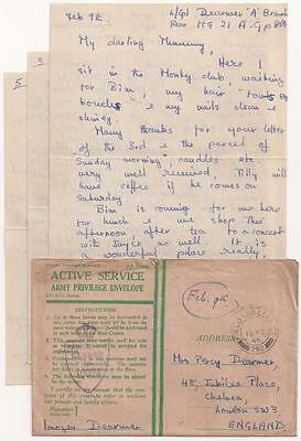 WWII British Letter. 21st Army Group Headquarters, Brussels, Belgium, 1944.