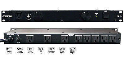 Furman M-8Lx 15-Amp 9-Panel Power Conditioner W/ 2 Lights M8Lx M 8 L X