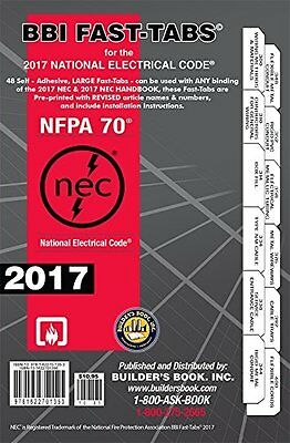 2017 National Electrical Code NEC Fast-Tabs For Softcover Builders Book Inc.