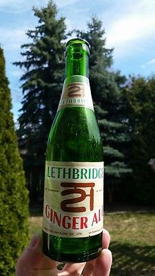Lethbridge Alberta 21 Ginger Ale Paper Label Soda Pop Bottle Canadian