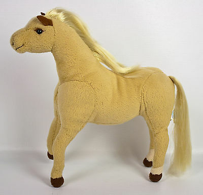"Applause Myrtlewood Stables Thor Palomino Pony Horse 9"" Plush Tan Poseable Toy"