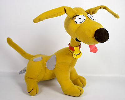 "Applause Rugrats Spike Puppy Dog 11"" Plush Brown Red Collar Nickelodeon Vtg 1996"