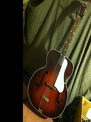 "KAY 17"" jumbo acoustic archtop guitar 1950's Chicago US harmony checker binding"