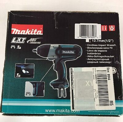 Makita XWT04Z 18-Volt LXT Lithium-Ion 1/2-Inch High Torque Impact Wrench New