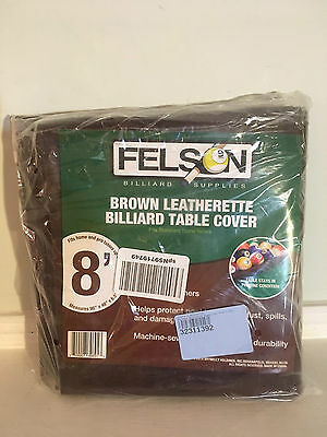 Felson 8-Foot Brown Leatherette Billiard Table Cover