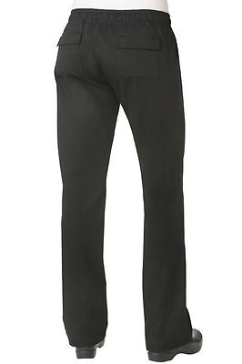 Chef Works Woman Relaxed Black Chef Pants Wblk