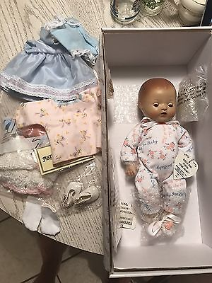"""Reproduction Effanbee 11"""" Vintage Lace Dy-Dee-Baby Doll: NIB"""