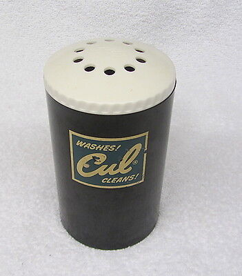 Vintage Culligan CUL SOAP Detergent Plastic Powder Laundry Shaker Washes Cleans