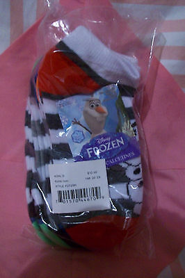 NEW Toddler Boys Package of 5Pr of Olaf Socks,Size 6-8, Frozen,NEW ChristmasGift