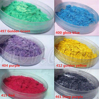 50g Jade Pearl Pigment Powder Metal Sparkle Shimmer Paint 6 Color 400 Grit New