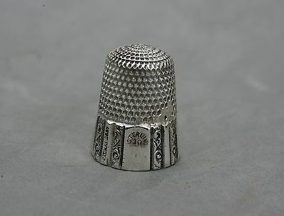 Thimble Sterling Silver Patent  May 28 1889 size 10 5.89 grams Antique Sewing