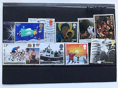 United Kingdom 11 used VF stamps, all different