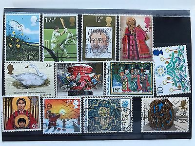 United Kingdom 12 used VF stamps, all different