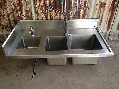 Commercial Stainless Steel Sink With Mixer Tap And Benches Dimensions In Photos