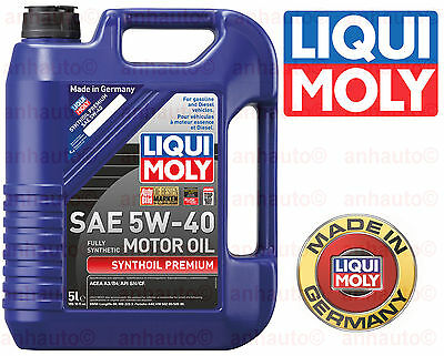 5-Liter Liqui Moly  Synthoil   Full Synthetic  Motor Oil 5W-40