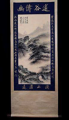 Good Old Chinese Landscape Paper Hand Scroll Painting Collectible Mark KK174