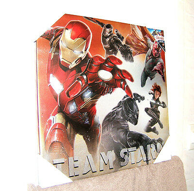 "Iron Man. Team Stark. Painting/print/poster (New) 20""by20""by1"" Thick"