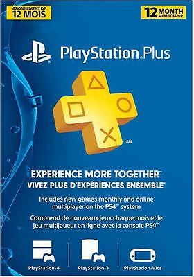 PlayStation 12 Month Subscription for only $79.99! Free Shipping! Ship Worldwide