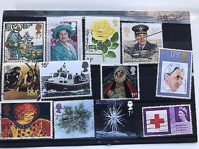 United Kingdom 12 used VF stamps, all different,