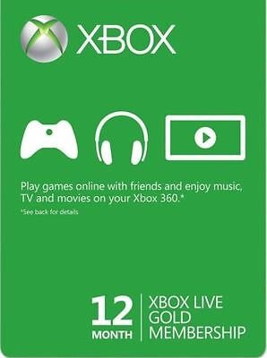 Xbox Live Gold 12 Month Membership for only $69.99!! Free Shipping!