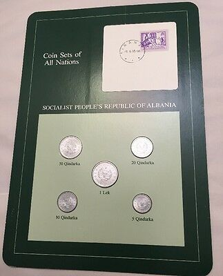 Five Coin Set 1969 Uncirculated SOCIALIST REPUBLIC ALBANIA Coins Of All Nations