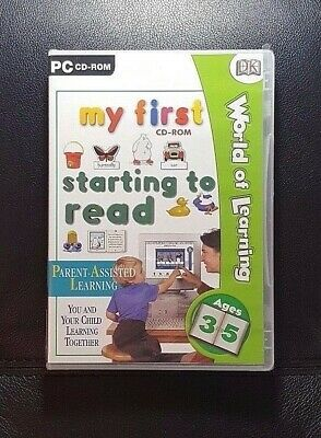 World Of Learning : My First CD ROM Starting To Read *NEW / SEALED - PC CD ROM