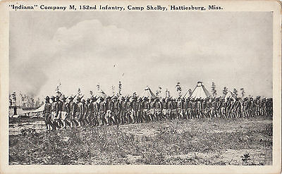 Indiana Company M 152nd Infantry Camp Shelby Hattiesburg MS