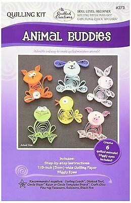 Quilled Creations Paper Quilling Kit animal Buddies