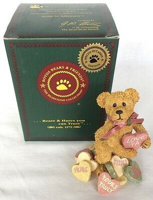 The boyds collection Resin Andy B. Truelove #82020 Boyds Bears Friends Bearstone