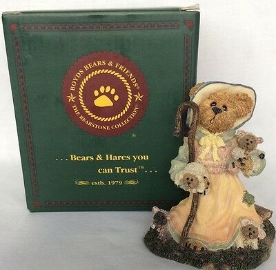 The boyds Bears Resin collection Lil' Bear Peep Got Sheep? Bearstone Vintage