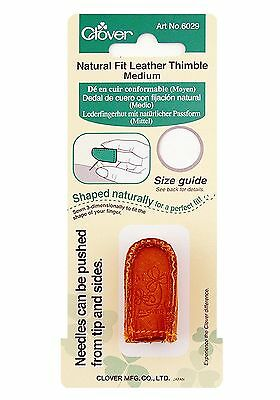 Clover Medium Natural Fit Leather Thimble