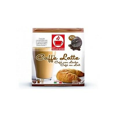 Dolce Gusto Compatible Coffee Pods Capsules 10 Pack. CAFÉ LATTE