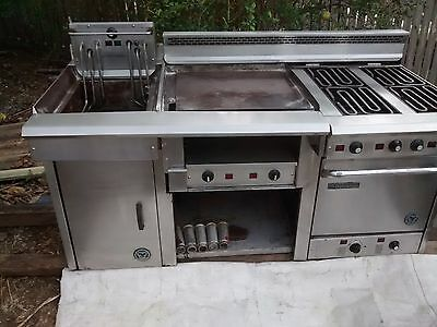 Goldstein commercial electric oven + griddler + deep fryer