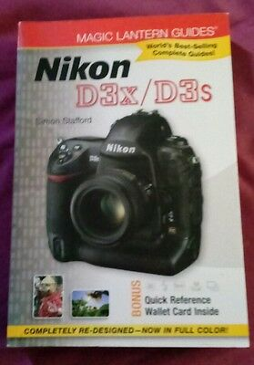 Nikon d3x/d3s owner's manual in very good condition