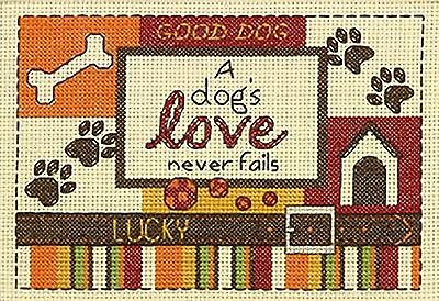 "Dimensions ""A Dogs Love"" Counted Cross Stitch Kit Multi-Colour"