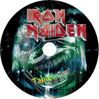 Iron Maiden Bass & Guitar Tabs Tablature Software Cd Best Of Greatest Rock Hits