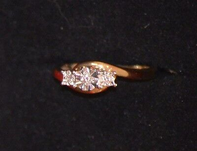 NEW Engagement Diamond yellow gold ring size 7 Valuation Certificate REDUCED