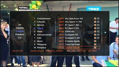 22-07-2017* Latest Channel List (Free Lifetime Update) Blanked Channels Removed