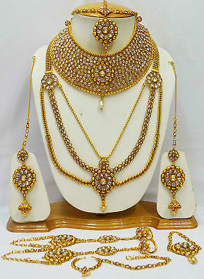 Royal Indian Bridal Rani Haar Gold Plated  Wedding Necklace Sets Jewelry Sets