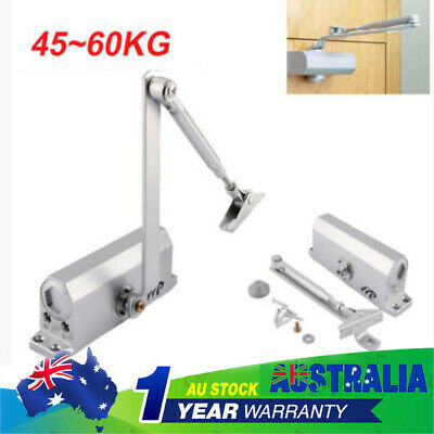 45-65KG Adjustable Automatic Fire Rated Overhead Silver Door Closer +Open Suits