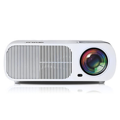 iRULU HDMI LED Projektor Beamer Full HD 1080p Smart Home Heimkino Projector Weiß