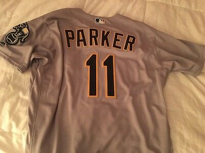 Jarrod Parker GAME USED WORN Oakland Baseball Jersey Sick Patch Sz48 Memorabilia