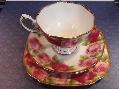 Vintage Royal Albert Old English Rose Trio (Cup Saucer Plate)